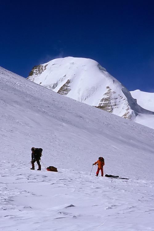 Reaching Saribung Pass (6250m), Damodar Himal, 2008