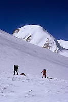 Reaching Saribung Pass (6250m), Damodar Himal, 2008