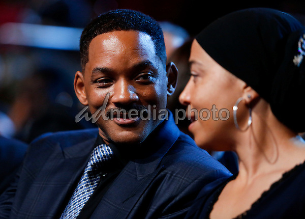 "Actor Will Smith attends a performance at the Kennedy Center called ""Taking the Stage; African American Music and Stories that Changed America,""  an event celebrating the opening of the Smithsonian National Museum of African American History and Culture, September 23, 2016, Washington, DC. US President Barack Obama and First Lady Michelle Obama (unseen) also attend the event. Photo Credit: Aude Guerrucci/CNP/AdMedia"