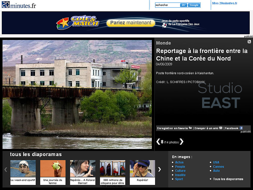 Slide-show of 14 photos on 20minutes.fr, website of daily newsaper 20 Minutes (France). Photos by Lucas Schifres/Pictobank