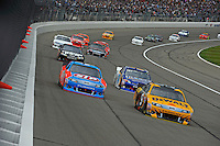 Marcos Ambrose (#9), Aric Almirola (#43), Bobby Labonte, (#47) Reese Tow Power Camry