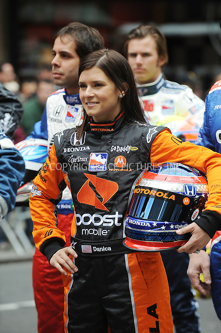 WWW.ACEPIXS.COM . . . . . ....May 17 2009, New York City....Danica Patrick....Indianapolis 500 racecar drivers  line up outside Macy's in Herald Square in the traditional 11 rows of three on May 18 2009 in New York City.......Please byline: KRISTIN CALLAHAN - ACEPIXS.COM.. . . . . . ..Ace Pictures, Inc:  ..tel: (212) 243 8787 or (646) 769 0430..e-mail: info@acepixs.com..web: http://www.acepixs.com