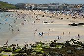 Porthmeor beach, St.Ives, Cornwall.