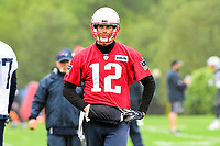 June 6, 2017: New England Patriots quarterback Tom Brady (12) takes part at the New England Patriots mini camp held on the practice field at Gillette Stadium, in Foxborough, Massachusetts. Eric Canha/CSM