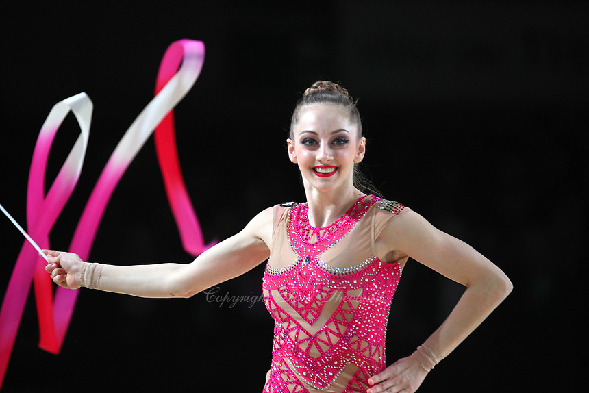 Boryana Kaleyn of Bulgaria performs at Thiais Grand Prix on March 25, 2018.