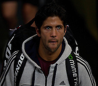 FERNANDO VERDASCO (ESP) arrives on court during JARMILA GAJDOSOVA (AUS) against  ANABEL MEDINA GARRIGUES (ESP) in the group stage of the Hopman Cup. Australia beat Spain 6-3 3-6 6-3..01/01/2012, 1st January 2012, 01.01.2012..The HOPMAN CUP, Burswood Dome, Perth, Western Australia, Australia.@AMN IMAGES, Frey, Advantage Media Network, 30, Cleveland Street, London, W1T 4JD .Tel - +44 208 947 0100..email - mfrey@advantagemedianet.com..www.amnimages.photoshelter.com.