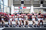 FEBRUARY 17, 2019 - Men in loincloths carry a large bamboo pole known as naoizasa during the Konomiya Hadaka Matsuri, or Naked Festival, in Inazawa City, Aichi Prefecture, Japan.<br /> <br /> The festival, which dates to A.D. 767, is held annually to ward off bad luck. (Photo by Ben Weller/AFLO) (JAPAN) [UHU]