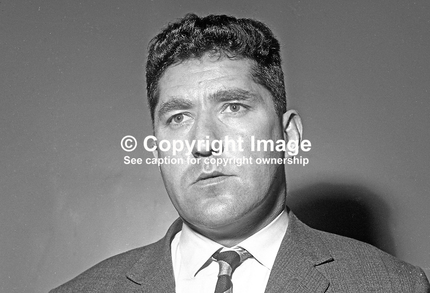 Noel Henderson, former Irish Rugby International, now, March 1969, a selector, native of Londonderry, N Ireland. 196903000126.<br />