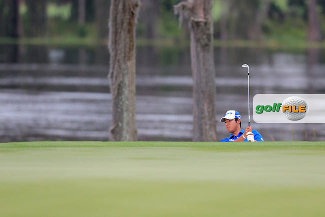 Hideki Matsuyama (JAP) during round 4 of the Hero World Challenge, Isleworth Golf &amp; Country Club, Windermere, Orlando Florida, USA. 07/12/2014<br /> Picture Fran Caffrey, www.golffile.ie