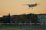 Small planes landing at Buchanan Field Airport, Concord, California