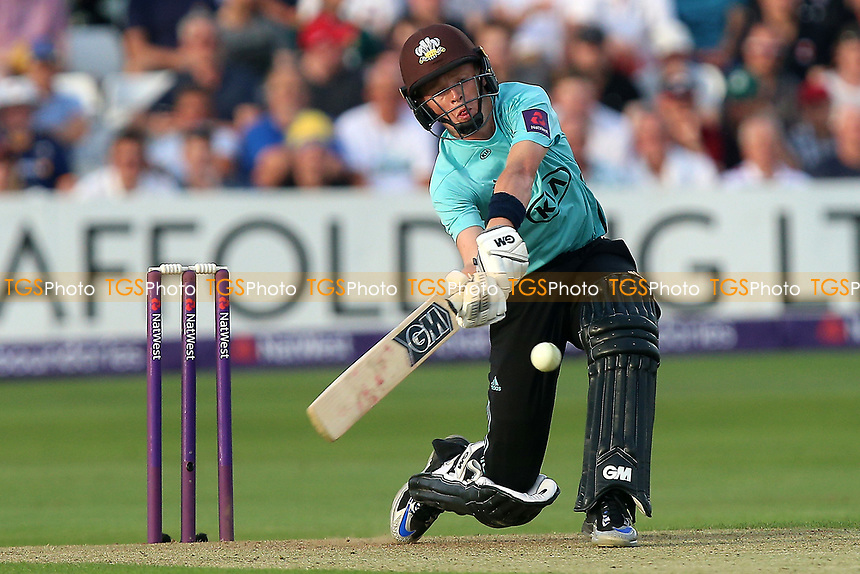 Ollie Pope in batting action for Surrey during Essex Eagles vs Surrey, NatWest T20 Blast Cricket at The Cloudfm County Ground on 7th July 2017
