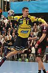 Rhein Neckar Loewe Andy Schmid (Nr.2) frei vorm Tor beim Spiel in der Handball Champions League, Rhein Neckar Loewen - HBC Nantes.<br /> <br /> Foto &copy; PIX-Sportfotos *** Foto ist honorarpflichtig! *** Auf Anfrage in hoeherer Qualitaet/Aufloesung. Belegexemplar erbeten. Veroeffentlichung ausschliesslich fuer journalistisch-publizistische Zwecke. For editorial use only.
