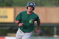 Beloit Snappers shortstop Tyler Grimes #11 runs during a game against the Kane County Cougars at Fifth Third Bank Ballpark on June 26, 2012 in Geneva, Illinois. Beloit defeated Kane County 8-0. (Brace Hemmelgarn/Four Seam Images)