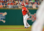 19 May 2012: Washington Nationals shortstop Ian Desmond in action against the Baltimore Orioles at Nationals Park in Washington, DC. The Orioles defeated the Nationals 6-5 in the second game of their 3-game series. Mandatory Credit: Ed Wolfstein Photo