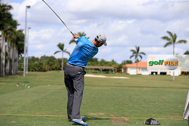 Martin Kaymer (GER) on the range during the preview to the WGC Cadillac Championship, Blue Monaster, Trump National, Doral,  Florida, USA. 01/03/2016.<br /> Picture: Golffile | Fran Caffrey<br /> <br /> <br /> All photo usage must carry mandatory copyright credit (&copy; Golffile | Fran Caffrey)
