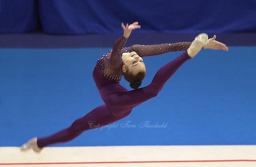 Oct 01, 2000; SYDNEY, AUSTRALIA:<br /> TAMARA YEROFEEVA of Ukraine performs with hoop during rhythmic gymnastics final at 2000 Summer Olympics.