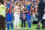 FC Barcelona's defender Jordi Alba with his girlfriend Romarey Ventura after Copa del Rey (King's Cup) Final between Deportivo Alaves and FC Barcelona at Vicente Calderon Stadium in Madrid, May 27, 2017. Spain.<br /> (ALTERPHOTOS/BorjaB.Hojas)