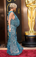 HOLLYWOOD, CA - MARCH 2: Elsa Pataky arriving to the 2014 Oscars at the Hollywood and Highland Center in Hollywood, California. March 2, 2014. Credit: SP1/Starlitepics. /NORTePHOTO