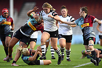 Mackenzie Carson of Bristol Bears Women takes on the Harlequins defence. Tyrrell's Premier 15s match, between Harlequins Ladies and Bristol Bears Women on September 15, 2018 at the Twickenham Stoop in London, England. Photo by: Patrick Khachfe / Onside Images