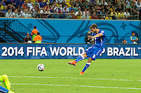 Claudio Marchisio of Italy scores a goal to make it 0-1