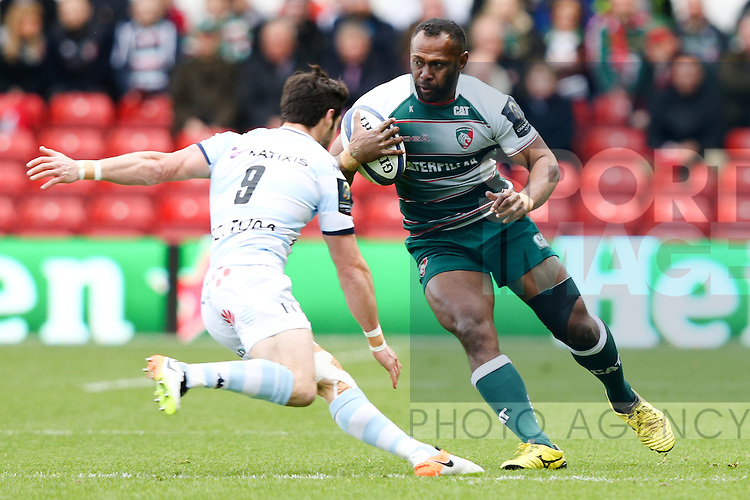 Leicester?s Vereniki Goneva during the 2016 semi-final of the European Rugby Champions Cup match at the City Ground, Nottingham. Photo credit should read: Charlie Forgham Bailey/Sportimage