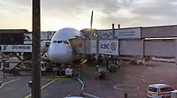 A380 von Singapore Airlines am Frankfurter Flughafen vor dem Abflug nach New York - 11.04.2018: Sightseeing in New York