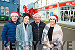 Killorglin traders Philip O'Connor A Place of Clothing Aine O'ConnorLaune Pharmacy, Brian Jones Eurospar and Michelle O'Shea Sean Taffe hairdressers all set for the Christmas rush