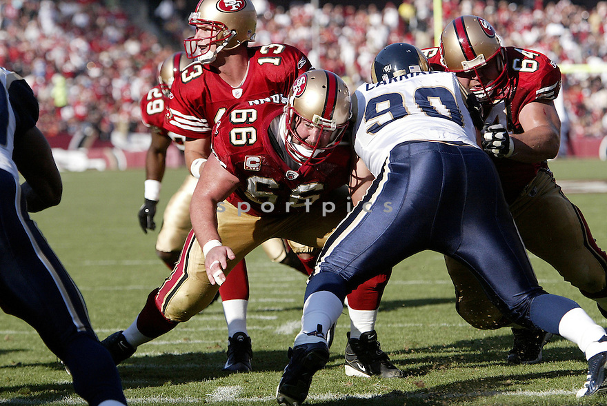 ERIC HEITMANN, of the San Francisco 49ers  in action against the St. Louis Ram during the 49ers game in San Francisco, California on November 16, 2008..49ers win 35-16