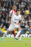 Mesut Özil and Daniel Cata Diaz during La Liga Match. December 02, 2012. (ALTERPHOTOS/Caro Marin)