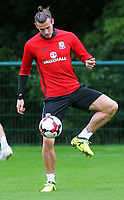 Gareth Bale in action during the Wales Training Session at the Vale Resort, Hensol, Wales, UK. Tuesday 29 August 2017