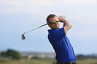 Padraic O'Brien (Co. Louth) on the 15th tee during Round 3 of the East of Ireland Amateur Open Championship 2018 at Co. Louth Golf Club, Baltray, Co. Louth on Monday 4th June 2018.<br /> Picture:  Thos Caffrey / Golffile<br /> <br /> All photo usage must carry mandatory copyright credit (&copy; Golffile | Thos Caffrey)