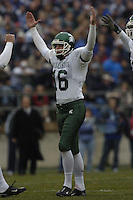 20 November 2004:  MSU kicker Dave Rayner (16).<br />