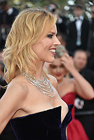 CANNES, FRANCE - MAY 11: Eva Herzigova waves as she attends the screening of 'Ash Is The Purest White (Jiang Hu Er Nv)' during the 71st annual Cannes Film Festival at Palais des Festivals on May 11, 2018 in Cannes, France. <br /> CAP/PL<br /> &copy;Phil Loftus/Capital Pictures