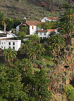 Spain, Canary Islands, La Palma, La Palma, oberhalb Santa Cruz: Santuario Nuestra Senora de las Nieves - monastery and pilgrimage chapel