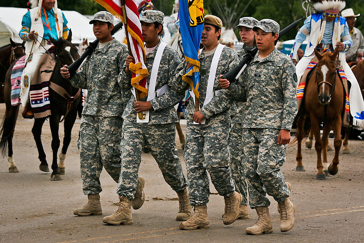 Parade color guard.