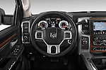 Car pictures of steering wheel view of a 2015 Ram 2500 Laramie 4 Door Van