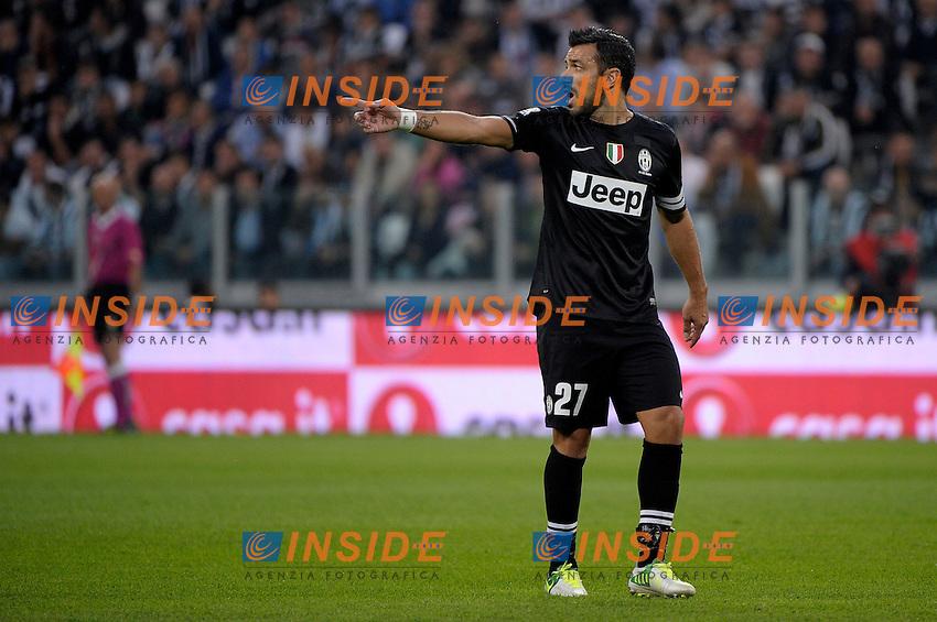 Fabio Quagliarella Juventus.Torino 20/10/2012 Juventus Stadium Torino.Football Calcio 2012/2013 Serie A.Juventus vs Napoli.Foto Federico Tardito Insidefoto.
