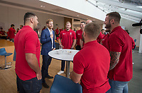 Picture by Paul Currie/SWpix.com - 04/09/2017 - Rugby League - Prince Harry Visits the Rugby  League - Manchester City Football Academy, Manchester, England - Prince Harry visits the players from England Rugby league at the Manchester City Football Academy