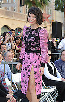 Evangeline Lilly on Hollywood Blvd where director Peter Jackson was honored with the 2,538th star on the Hollywood Walk of Fame.<br /> December 8, 2014  Los Angeles, CA<br /> Picture: Paul Smith / Featureflash