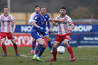 Danny Newton of Stevenage and Paul Green of Crewe Alexandra during Stevenage vs Crewe Alexandra, Sky Bet EFL League 2 Football at the Lamex Stadium on 10th March 2018