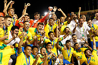 17th November 2019; Bezerrao Stadium, Brasilia, Distrito Federal, Brazil; Final FIFA U-17 World Cup Final match 2019, Mexico versus Brazil; Players of Brazil celebrate their 2-1 win with the trophy after the match
