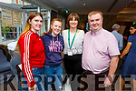 At the Horans 'Health & Wellness Exhibition in the Rose Hotel on Saturday morning.<br /> L to r: Laura and Leeann O'Connor, Ann Murphy and Dan Horan.