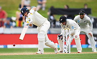 2nd December, Hamilton, New Zealand; England captain Joe Root batting on day 4 of the 2nd test cricket match between New Zealand and England  at Seddon Park, Hamilton, New Zealand.