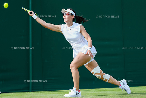 Saisai Zheng (CHN), JULY 4, 2017 - Tennis : Saisai Zheng of China during the Women's singles first round match of the Wimbledon Lawn Tennis Championships against Daria Kasatkina of Russia at the All England Lawn Tennis and Croquet Club in London, England. (Photo by AFLO)