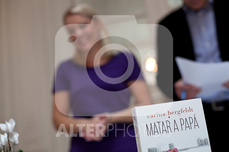 "Swede writer and journalist Carina Bergfeldt during the official presentation of her new book ""Matar a papa"" in the Swedish Embassy in Madrid, Spain. October 29, 2013. (ALTERPHOTOS/Victor Blanco)"