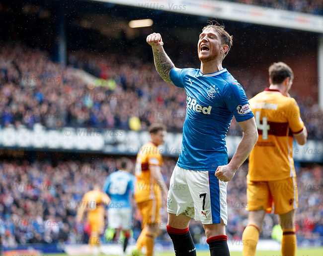 Joe Garner celebrtates his goal