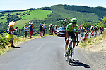 Taylor Phinney (USA) Cannondale Drapac out front climbing during Stage 15 of the 104th edition of the Tour de France 2017, running 189.5km from Laissac-Severac l'Eglise to Le Puy-en-Velay, France. 16th July 2017.<br /> Picture: ASO/Pauline Ballet   Cyclefile<br /> <br /> <br /> All photos usage must carry mandatory copyright credit (&copy; Cyclefile   ASO/Pauline Ballet)