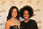 """CNN's Soledad O'Brien (co-mistress of ceremonies) and Another World's Rhonda Ross at Hearts of Gold's 16th Annual Fall Fundraising Gala & Fashion Show """"Come to the Cabaret"""", a benefit gala for Hearts of Gold on November 16, 2012 at the Metropolitan Pavilion, New York City, New York.   (Photo by Sue Coflin/Max Photos)"""