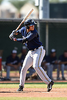 Milwaukee Brewers outfielder Elvis Rubio (81) during an Instructional League game against the Los Angeles Angels of Anaheim on October 9, 2014 at Tempe Diablo Stadium Complex in Tempe, Arizona.  (Mike Janes/Four Seam Images)
