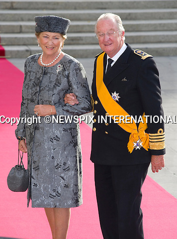"KING ALBERT II AND QUEEN PAOLA OF BELGIUM.Wedding of HRH the Hereditary Grand Duke and Countess Stéphanie de Lannoy.Religious Ceremony at Cathedral of Our lady of Luxembourg, Luxembourg_20-10-2012.Mandatory credit photo: ©Dias/NEWSPIX INTERNATIONAL..(Failure to credit will incur a surcharge of 100% of reproduction fees)..                **ALL FEES PAYABLE TO: ""NEWSPIX INTERNATIONAL""**..IMMEDIATE CONFIRMATION OF USAGE REQUIRED:.Newspix International, 31 Chinnery Hill, Bishop's Stortford, ENGLAND CM23 3PS.Tel:+441279 324672  ; Fax: +441279656877.Mobile:  07775681153.e-mail: info@newspixinternational.co.uk"